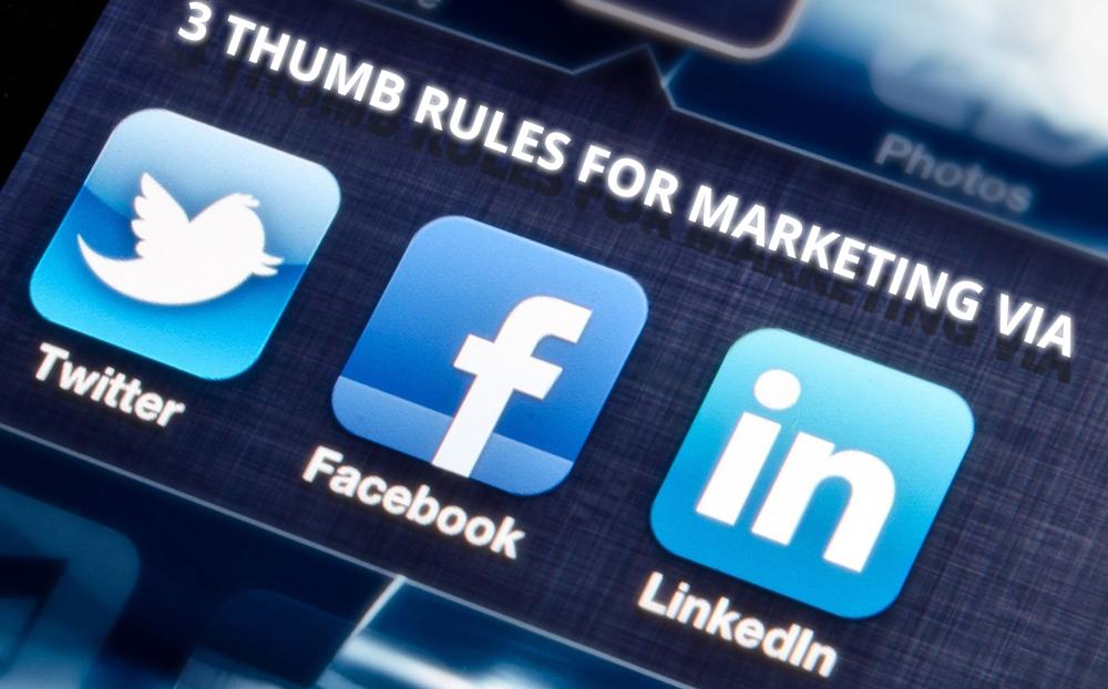 facebook marketing, twitter marketing, linkedin marketing