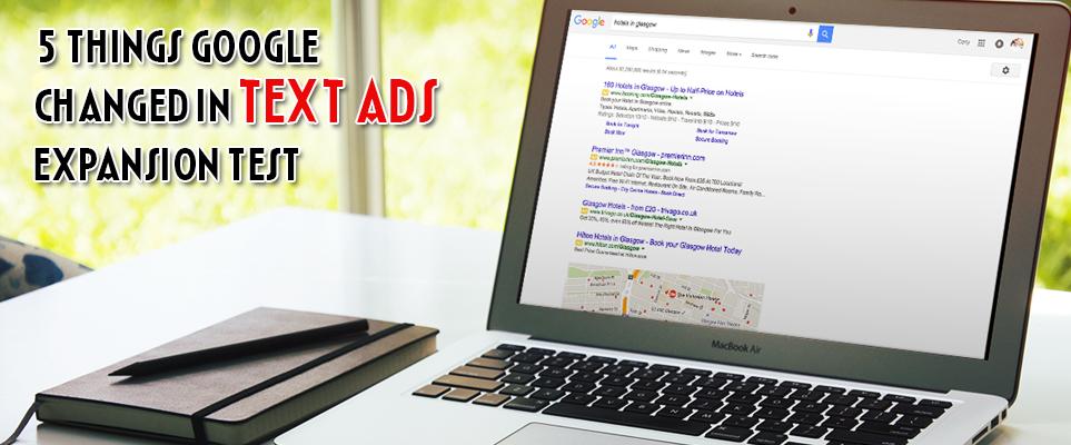 Google Ads Expansion test